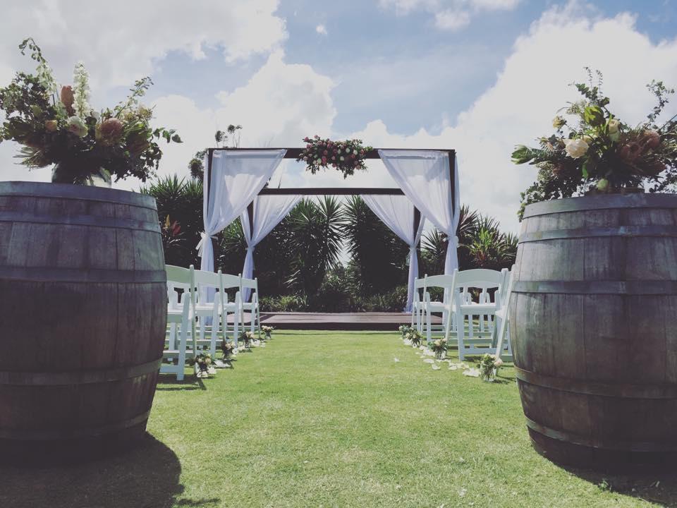 Wedding Pavilion with Barrels